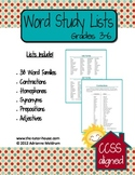 Word Study Lists for Grades 3-6