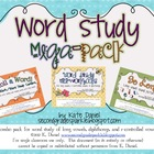 Word Study Mega Pack {Mini-Workbooks, Picture Sort, Roll a Word}