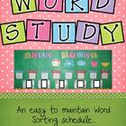 Word Study Sorting Schedule - Flower Spring Theme
