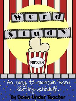 Word Study Sorting Schedule - Hollywood Movie Theme