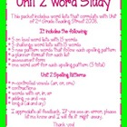 Word Study Unit 2