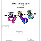 Word Study Unit for Kindergarten, First Grade, or Second Grade