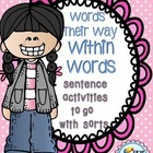Word Study - Words Their Way - Within Word - Sentence Activities