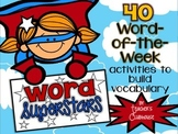 Word Superstars: Vocabulary of the Week