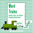 Word Trains Prefix, Root, and Suffix Vocabulary Game (Free