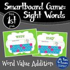 Word Value Game for Dolch 1st Grade Words - Smartboard or