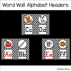 Word Wall Alphabet Headers