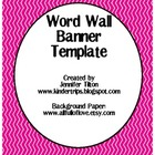 Word Wall Banner Template