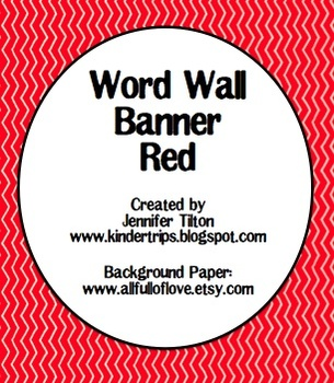 Word Wall Banner in Red