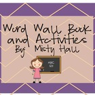 Word Wall Book and Activities