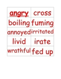 Word Wall Cards for Synonyms Unit 1-2
