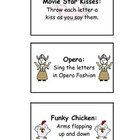 Word Wall Chant Activity Cards