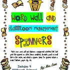 Word Wall & Classroom Management Spinners! (4 Different Sp