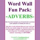 Word Wall Fun Pack - ADVERBS!