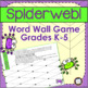Word Wall Game: Spiderweb