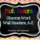 Word Wall Headers- Multicolored Chevron