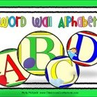 Word Wall {Large Alphabet Blocks and Images}