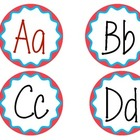 Word Wall Letter Labels  (Blue and Red Round)