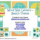 Word Wall Letters - Beach/Ocean