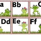 Word Wall Letters Frogs