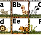 Word Wall Letters Jungle