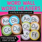 Word Wall Letters Only Polka Dot Style
