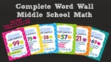 Word Wall - Middle School Math - Complete Bundle EDITABLE