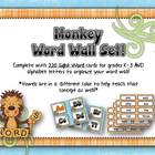 Word Wall - Monkey Business Themed