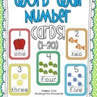 Word Wall Number Cards 1 to 20