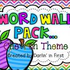 Word Wall Pack {Dolch Lists}...Chevron Theme