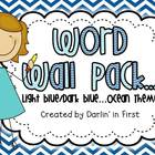 Word Wall Pack {Dolch Lists}...Dk. Blue/Lt. Blue Ocean Theme 