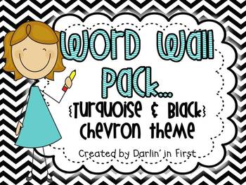 Word Wall Pack {Dolch Lists}...Turquoise & Black Chevron