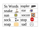 Word Wall Picture Cards S-T