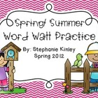 Word Wall Practice - Spring Themed