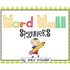 Word Wall Spinners