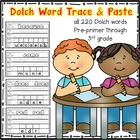 Word Wall Trace &amp; Paste (Preprimer-3rd grade)