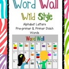 Word Wall - Wild Style Set Programmable Cards (Kinder and 1st)