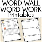 Word Wall Word Work