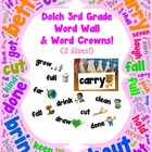 Word Wall and Word Crowns with Pictures: Dolch 3rd / Third Grade
