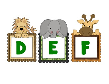 Word Wall/Alphabet Letters - Jungle Babies