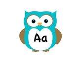 Word Wall/Alphabet Signs - Owl Theme