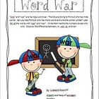 Word War - words using &#039;wor&#039; and &#039;war&#039;