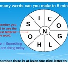 Word Wheels Warm Up English Game