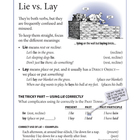 Word Wise poster: Lie vs. Lay