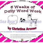 Word Work {5 Weeks of A to Z Writing and Reading}