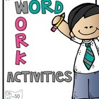 Word Work Activities Packet - grade 1