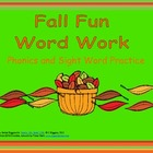 Word Work Activities for Fall