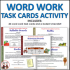 Word Work Activity Cards (11 pages)