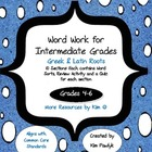 Word Work Book for Intermediate Grades (4-6) - Greek & Lat