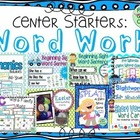 Word Work: Center Starters Bundle
